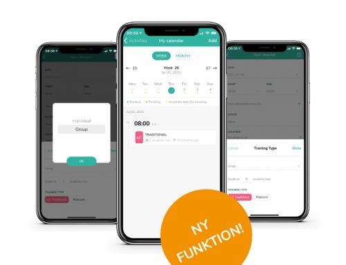 Ny funktion i appen: Gruppbokning