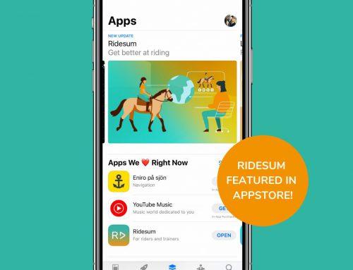 Ridesum uppmärksammas i App Store
