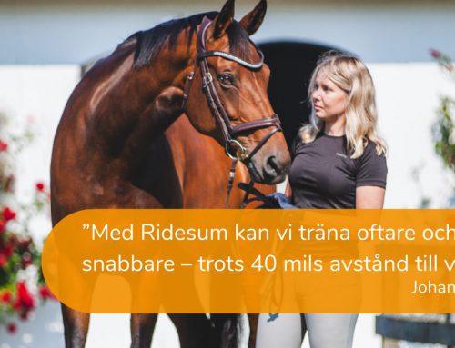 Med Ridesum kan vi träna oftare och utvecklas snabbare – trots 40 mils avstånd